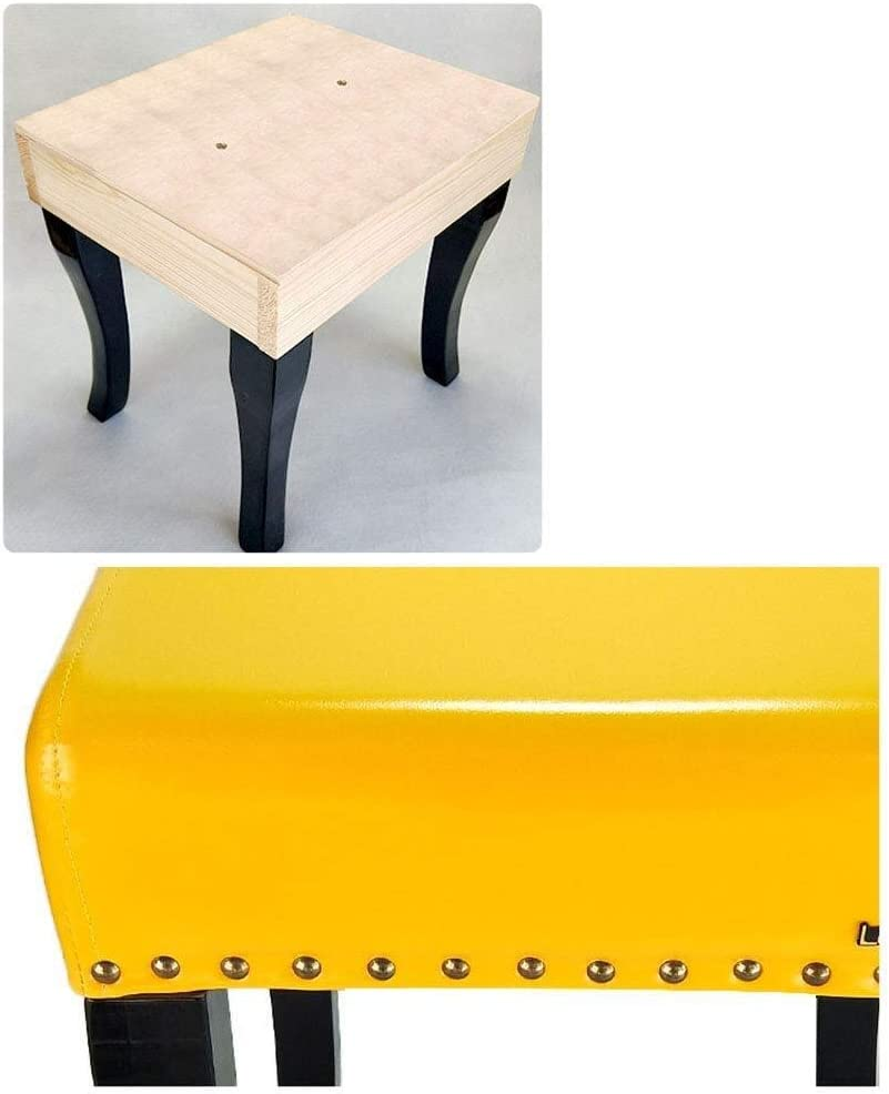 MENG Minimalist Rest Hocker Fußbänke Osmanen Frisierkommode/Fuß Hocker mit Kissen, Kunstleder Startseite Schuh Hocker (Color : A3) A3