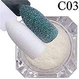 MARSPOWER 1 confezione di glitter per unghie con zucchero candito, glitter, polvere, decorazioni fai-da-te per unghie, fiocchi di polvere di polvere olografica