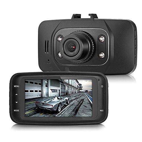 beshp 6,9cm TFT LCD Display 1080P 140° Weitwinkel-Objektiv Auto DVR Fahrzeug Kamera Recorder G-SENSOR Bewegungserkennung IR-Nachtsicht (GS8000L)