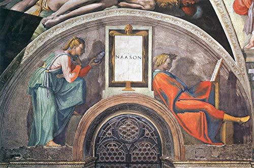 A Michelangelo Buonarroti Up Michelangelo Cappella Sistina Soffitto Naason Restaurato Puzzle in legno 1000 pezzi Giocattolo Decorazione per adulti Fai da te Sfida