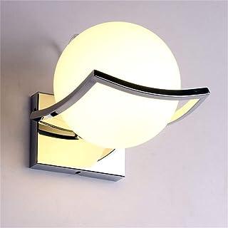 Lampe moderne murale en forme de boule, applique murale avec abat-jour en verre pour chambre à coucher, corridor, blanc chaud