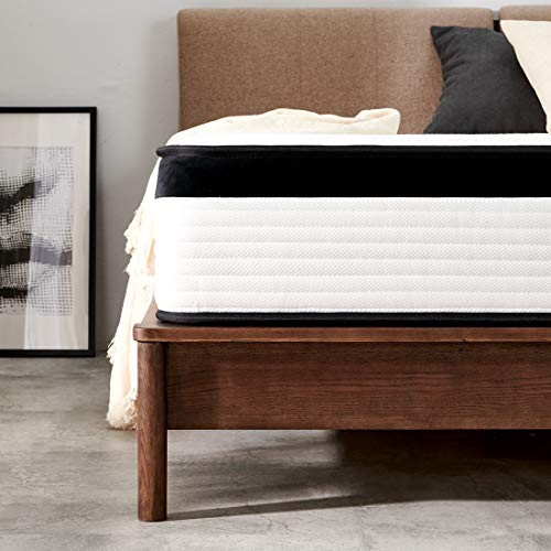 Sale!! Queen Mattress, Molblly 12 inch Innerspring Mattress in a Box, 1.0 Ultimate Motion Isolation ...
