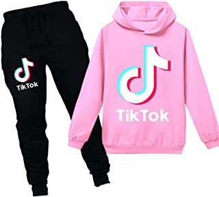 TIK Tok Hoodie Boys and Girls Children's Wear Hoodie + Pants