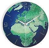 SLZFLSSHPK Reloj Cocina Pared Reloj Decorativo Reloj de Pared de la Oficina Luminoso Creativo Reloj de Pared Mudo Reloj Retro Tierra Reloj de Cuarzo de la Sala Digital de Cocina Romana Casa Comprar