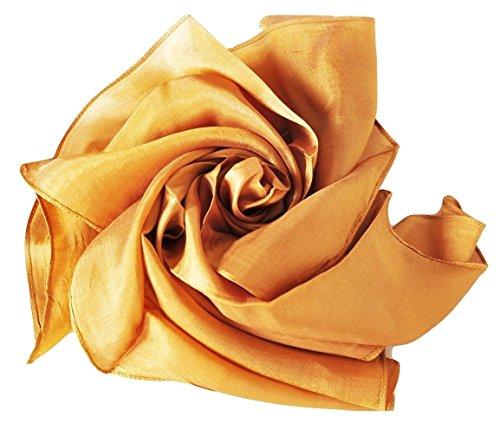 YSS Nickituch/Seidentuch 1 A Qualität unifarben Made in Thailand (Gold)