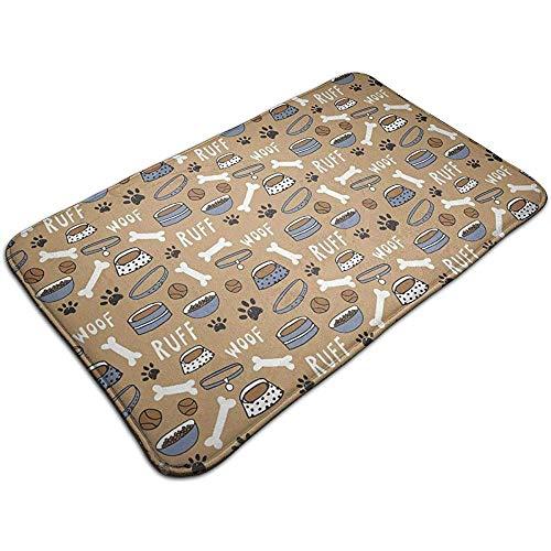 Beck Roy Hundefutter '' x '' Badematte Fußmatte Saugfähiger Badteppich Teppich für Innen- und Außenküche Eingangsbad