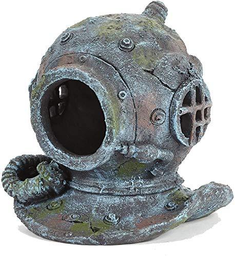 YXYOL Creativa Fish Tank Paisajismo, Casco del Salto de la ruina de los Fondos Marinos Peces pequeños Caminando por el Refugio de decoración del Acuario, Tanque de Pescados de la decoración, Grande