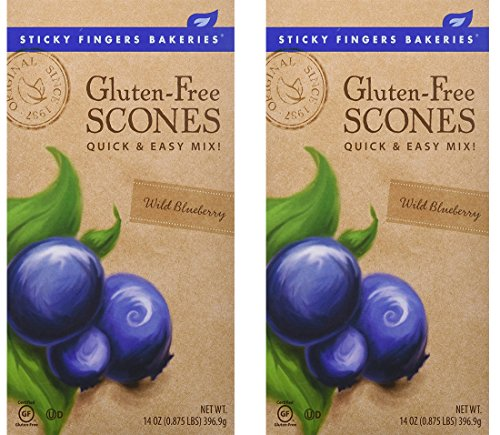 Sticky Fingers Bakeries Gluten Free Scone Mix Wild Blueberry -- 14 oz - 2 Pack (2 Pack)