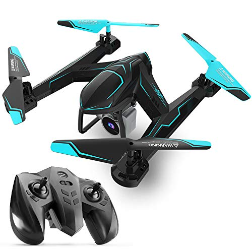 QKa Drohne mit Kamera, Quadcopter mit 1080P-Weitwinkelkamera Live-Video-Mobile-APP-Steuerung Faltbarer Höhen-Hold-Modus Selfie-Pocket-RC-Hubschrauber