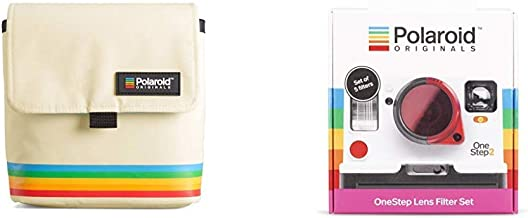Polaroid Originals Box Camera Bag, White (4757) & Originals 4690 One-Step Lens Filter Set, White
