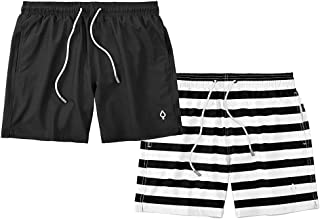 Kit 2 Shorts Bermudas Resina Liso e Listrado Masculino Tactel REF-16-30