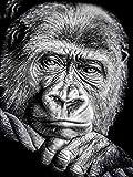 wgkgh Puzzles Rompecabezas Adultos Niños Wooden 1000 Piezas Puzzles Collection Puzzles Cada Pieza Es Unica Tecnología encajan Perfectamente Jigsaw Puzzles chimpancé 50CMX75CM