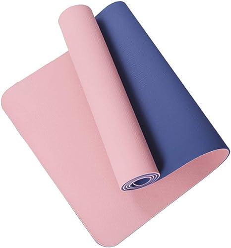 DONGLU Tapis de Yoga 8mm Haute densité Hommes et Femmes Tapis de Fitness Anti-dérapant Tapis d'exercice (Couleur   1, Taille   Thickness 6mm)