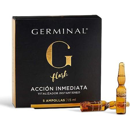 Germinal - Siero in Fiale per Viso Effetto Flash e Lifting Immediato, con le Proteine idrolizzate del Mais (Peptidi) ed Estratti di Ginseng - Azione Immediata - 5 Fiale x 1,5 ml