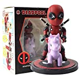 JSJJAUA Figura de acción 10-13cm Deadpool Funny con Unicornio 1/10 Escala Pintada Figura Unicornselfie Q versión Figurine PVC Modelo de acción Juguetes muñeca (Color : Style B with Box)
