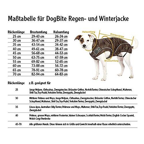 DOGBITE Regenjacke FLEXIBLE SYSTEM Braun Mantel für Hunde 25cm