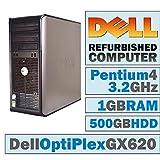 Dell OptiPlex GX 620 MT/Pentium 4 HT 3.2 @ 3.2 GHz/1GB DDR2/500GB HDD/DVD-RW/WINDOWS 7 PRO 64 BIT