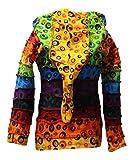 Shopoholic Fashion Children Pixie Colorful Hippie Striped Hoodie Hippy Boho Kids Sweater Jacket (2XL,Bubble)
