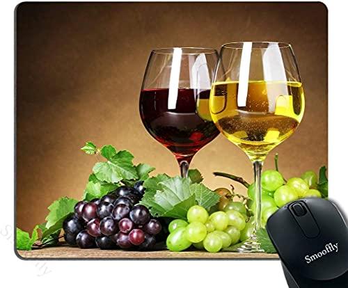 Alfombrilla de ratón Antideslizante de rectángulo de Vino Personalizado de UVA