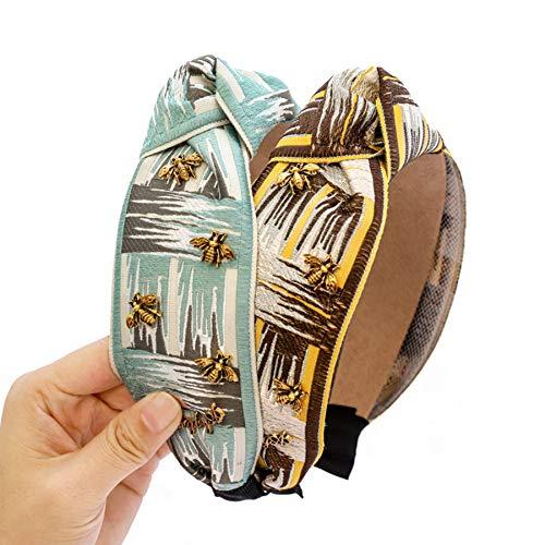 diademas,turbantes,bandas pelo,bodas,Navidad,4 Uds, Diadema de tela étnica a la moda, diadema ancha...