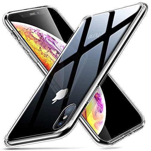 "Kit Capa E Película Para Iphone Xs Max Tela De 6.5"" Capinha Transparente Clear Ultra Fina e Película De Vidro Temperado - Danet (Transparente)"