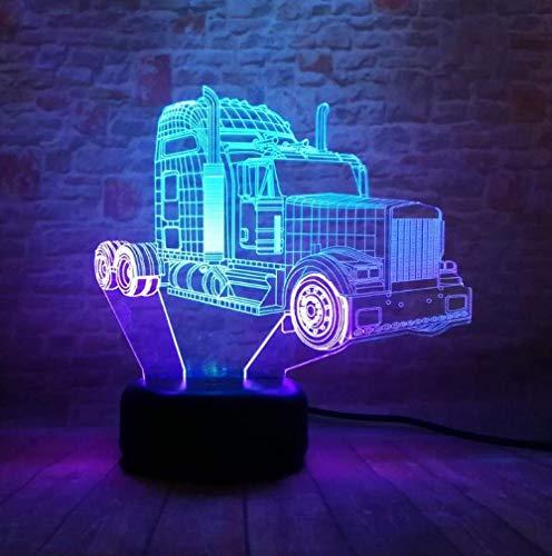 Nieuwe transformatoren autobots Optimus Prime Action Figuur gemengde kleuren 3D LED RGB nachtlicht USB Touch wooncultuur kinderen jongens cadeau