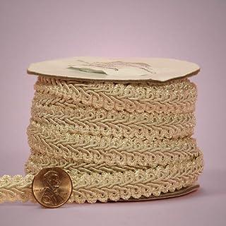 E16C, D/ÉCOPRO 8 Yards of 3//4 inch Basic Trim Decorative Scroll Gimp Braid 24 Ft // 7.3 Meters Style# 0075SGC Color: Camel Gold