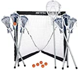 STX FiddleSTX Seven Player Game Set with Six Field Player Sticks One Goalie Stick Mini Goal and Balls