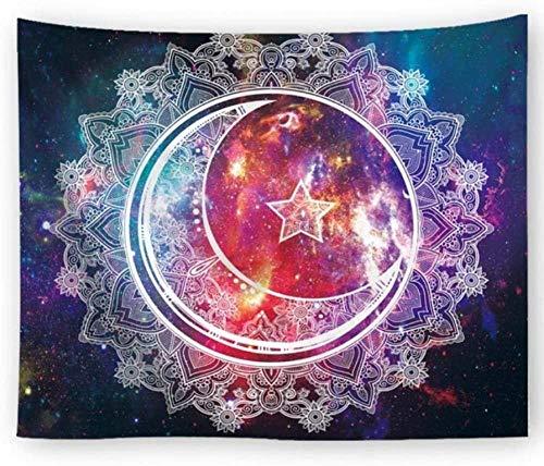 QIAO Mandala Starry Sky Tapiz geom¨¦trico Tapiz para Colgar en la Pared Tapiz Decorativo psicod¨¦Lico Oriental Sof¨¢ Cama Funda para el hogar Decoraci¨n de la Pared Tapiz