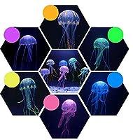 水族館のクラゲの装飾魚の水槽の造園の装飾6ピース蛍光中型シミュレーションクラゲの魚の水槽の装飾(8 * 20cm)