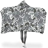 RQPPY Camouflage Tagesdecke Decke Angenehm Warm Reversible Warm Washable Decke White 150x200cm