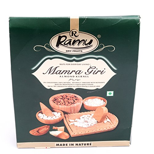 Ramu Afghani Almond Giri (Mamra Badam) 250 gm Pack of 1 Grade - Big Size