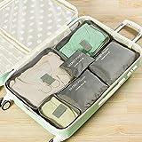 JWIL Bolsa de Equipaje 6 UNIDS Packing Cubes Set para Viajes Equipaje Organizador Bolsa Bolsas de Compresión Ropa Maleta Rosa Hacer Cubos de Embalaje más Ligeros y duraderos