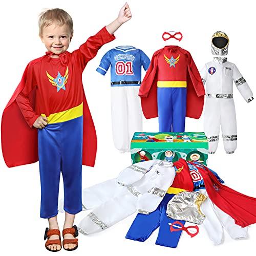 Boys Dress up Trunk Costumes Set, Jeowoqao Kids Dress up Clothes Set Boys Role Play...