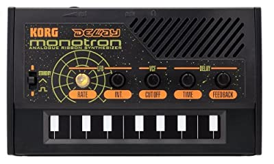 Korg MONOTRON-DELAY Analogue Retro Ribbon Synth with Delay Effect and Built-in Speaker. Become the next Jean Michel Jarre!