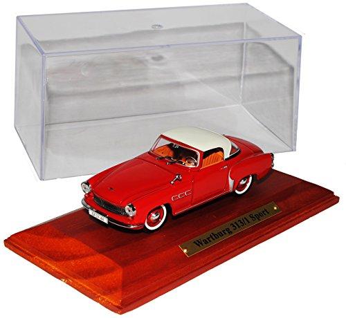 Atlas Wartburg 313/1 Sport Coupe Rot 1957-1960 1/43 Modell Auto