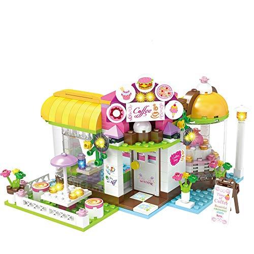 Bloques de construcción 534 Uds City Girls Coffee House Bloques De Construcción Compatibles Friends Go-kart Diy Figuras Ladrillos Juguetes Educativos Para Niñas