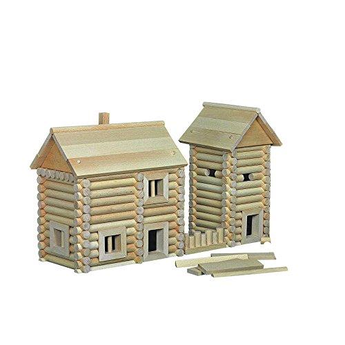 Walachia Vario Boîte massive Jeu de construction en bois Maquette Kit 418 pièces