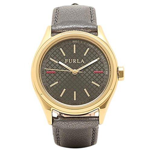 [フルラ] 腕時計 レディース FURLA R4251101501 866599 イエローゴールド/メタリックブラック [並行輸入品]