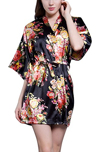 Dolamen Mujer Vestido Kimono Satén, 2017 Nuevo Camisón para Mujer, Lujoso Impresión...