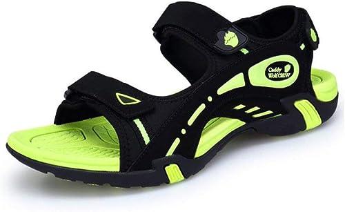Sommer-Sandale Herrenschuhe Casual Schuh Perfekt für Strand Outdoor-Wander-Reisen Beach schuhe Tide Rutschfeste Exposed Toe Sandalen Grün, Blau (Farbe   Blau, Größe   42) ( Farbe   Grün , Größe   38 )