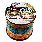 ashconfish geflochten Angeln line-16Strähnen die meisten Starke Angelschnur 500m/546yards-...