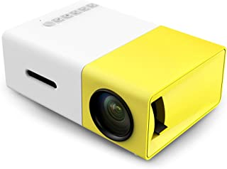 YG-300 LCD Mini Portable Projector with USB/SD/AV/HDMI Slots - Yellow