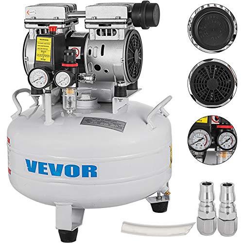 GIOEVO Compressore d'aria Senza Olio da 5,5 galloni Ultra Silenzioso Serbatoio da 25 Litri Compressore d'aria Silenzioso Compressore da 550 W Senza Olio Basso Rumore (25L)