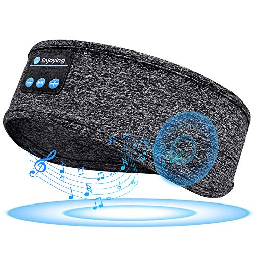 Sleep Headphones Bluetooth Headband, Wireless Sleeping Headphones Bluetooth Sports Headband with Built-in Thin Speakers, Comfortable for Slipping Running Yoga Side Sleepers Travel, Gift for Women Wen
