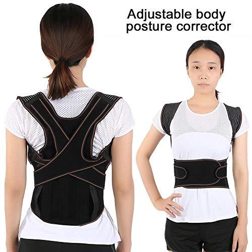 Cinturón y cinturón para cinturón con cinturón para adultos y com, corrector de postura con soporte de 3 placas de acero