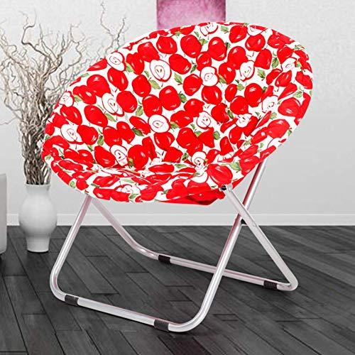 Nfudishpu Saucer Moon Chair, Acolchado Plegable Plegable al Aire Libre Lounge Lounge, sillón jardín, Patio, Piscina