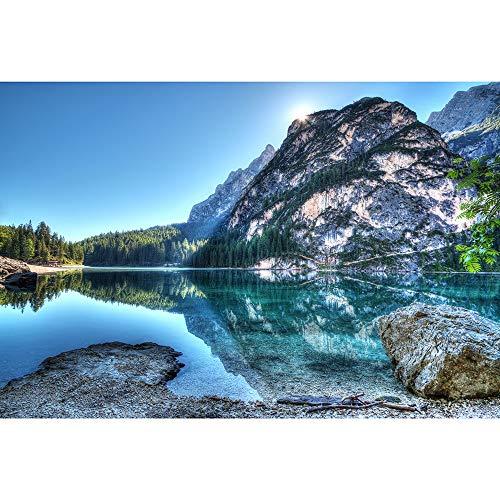 Lake Forest Paisaje De La Naturaleza Rompecabezas, 500/1000/1500/2000/3000/4000/5000/6000 Pieza, Rompecabezas De Madera De Los Juguetes Decoración Pared del Arte 0619 (Size : 500 Pieces)