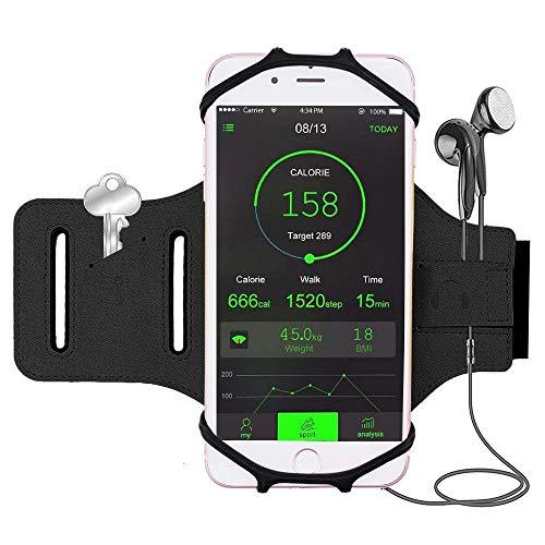 Bovon Handytaschen Laufen, 180° Drebares Oberarm Sport Armband für Allen 4.0-6.2 Zoll Smartphones