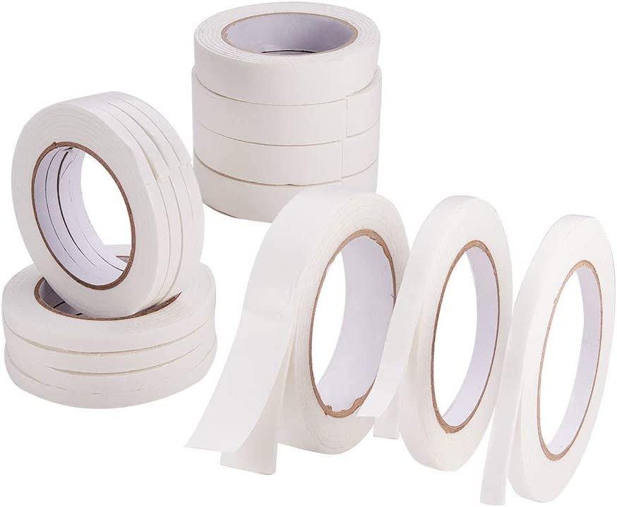 PandaHall Opening large release sale Elite 15 Rolls Double Sided Foam PE Ta White Import Tape